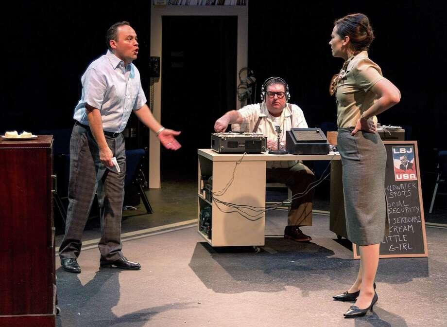 "Rhett Martinez, Jonathan Minchew-Gonzalez and Rachael Logue in Sean Devine's ""Daisy,"" at Main Street Theater Photo: John Lienhard / John Lienhard"