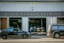 The exterior of Black Hammer Brewing in San Francisco, is seen on Sunday, October 18th, 2015.