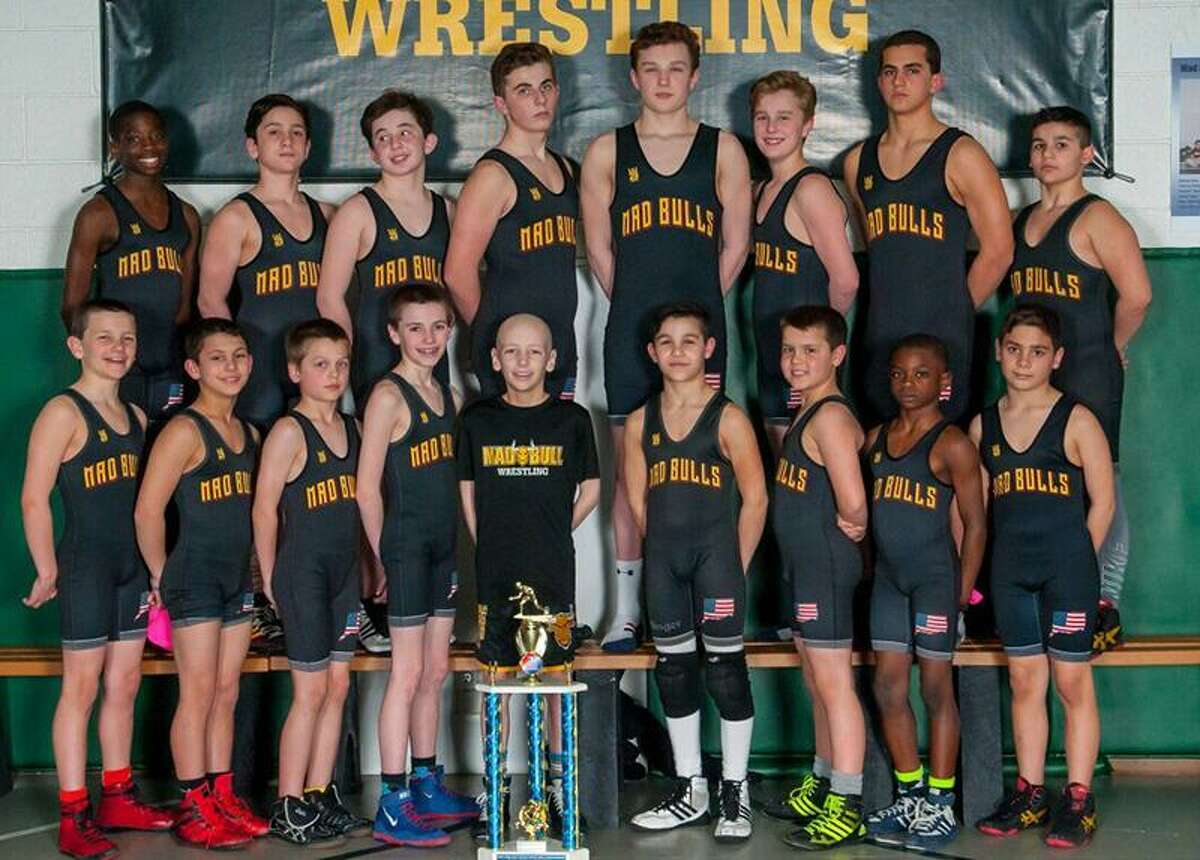 Members of the Norwalk Mad Bulls pose for a team photos following the New England Regional championship meet.