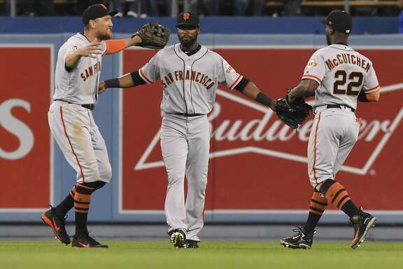 The new outfield — Hunter Pence in left, Austin Jackson in center and former NL MVP Andrew McCutchen in right — gives San Francisco a lot of experience, but thus far the trio has just six hits in 42 at-bats. Newcomers Jackson and McCutchen have just one apiece.
