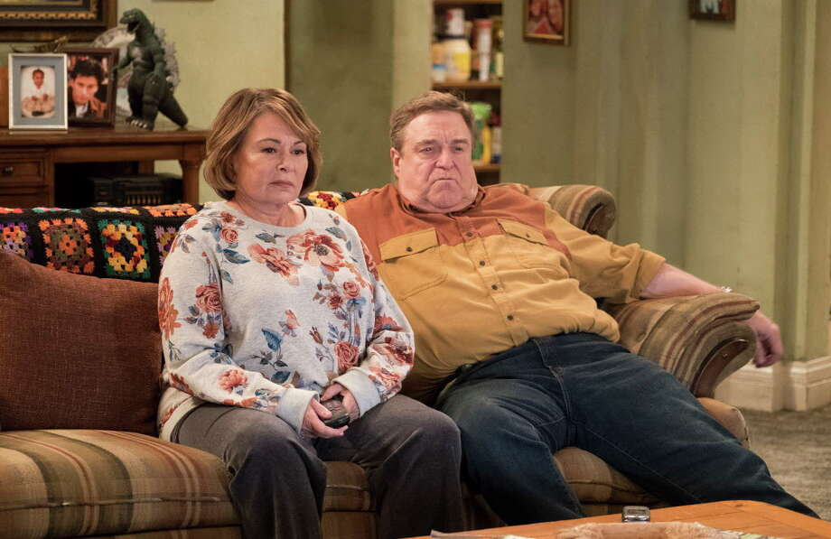 "In this image released by ABC, Roseanne Barr, left, and John Goodman appear in a scene from the reboot of ""Roseanne,"" premiering on Tuesday at 8 p.m. EST. (Adam Rose/ABC via AP) Photo: Adam Rose / © 2017 American Broadcasting Companies, Inc. All rights reserve"