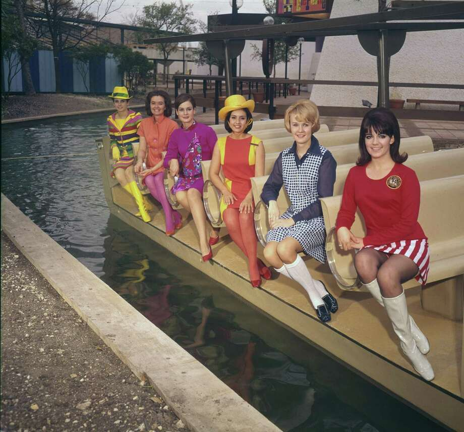 Ambassadors for HemisFair '68 show several colorful uniforms worn during the world's fair in San Antonio. Photo: Courtesy UTSA Libraries Special Collections At ITC