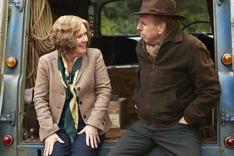 "Imelda Staunton and Timothy Spall in a scene from ""Finding Your Feet."" Photo: Roadside Attractions"
