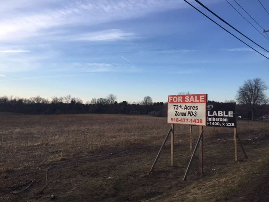 Vacant land along Route 9 in Schodack is poised to become a large distribution center. Area residents came out to the town Planning Board on Monday, April 2, 2018, to protest against the plan. Photo: Amanda Fries / Times Union