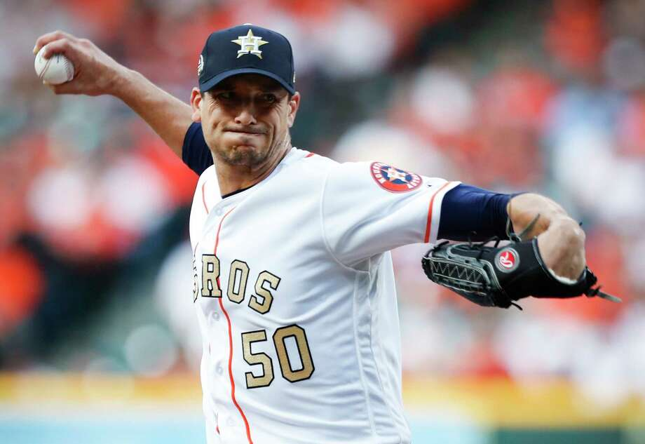 With six shutout innings Monday, Charlie Morton kept pace with his talented mates in the Astros' starting rotation. Photo: Brett Coomer, Houston Chronicle / © 2018 Houston Chronicle