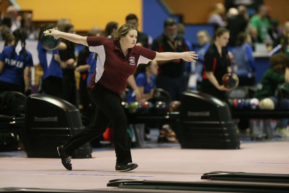 Lansingburgh's Katie Lynch competed in the NYSPHSAA Girls Division 2 Bowling Championship at the Oncenter in Syracuse. Lynch won the High Game with a score of 247 and placed 2nd in the Girls Series with a total of 1203 points. (Nick Serrata - Special to the Times Union) Photo: Nick Serrata - Special To The Times Union / (C)Nick Serrata 2017