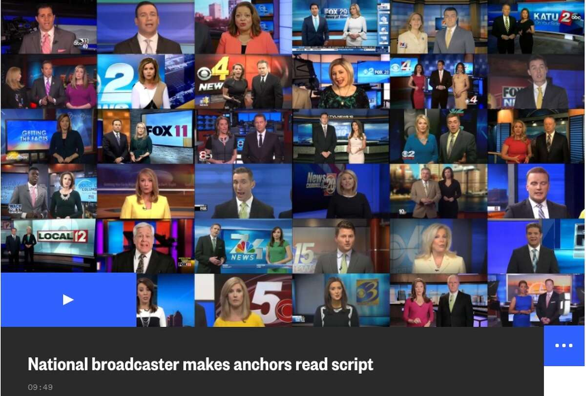 Deadspin's 98-second video montage of TV segments that went viral included footage of Liz Bishop of Sinclair's local affiliate, CBS 6.