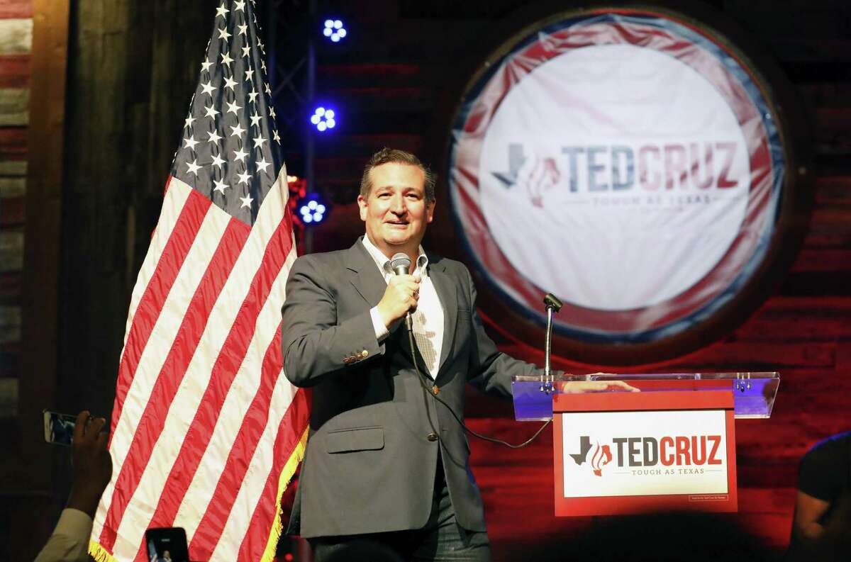U.S. Sen. Ted Cruz takes the stage as he officially kicks off his campaign for the U.S. Senate pitching the slogan ?