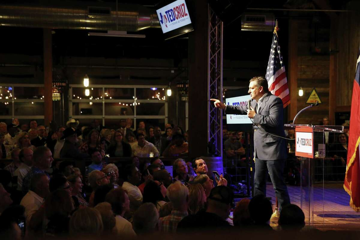 """U.S. Sen. Ted Cruz officially kicks off his campaign for the U.S. Senate pitching the slogan ?""""Texas Tough?"""" at the Redneck Country Club in Stafford, TX on Monday, April 2, 2018."""