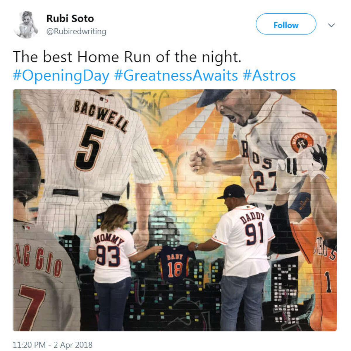 Fans celebrated the Astros first home game of the season by posting pictures of their visit to Minute Maid stadium on March 2, 2018.
