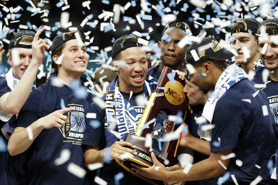 The Villanova Wildcats celebrate after their NCAA Division I Men's National Championship Basketball game against the Michigan Wolverines held Monday April 2, 2018 at the Alamodome. Villanova Wildcats won 79-62. Photo: Edward A. Ornelas, Staff / San Antonio Express-News / © 2018 San Antonio Express-News