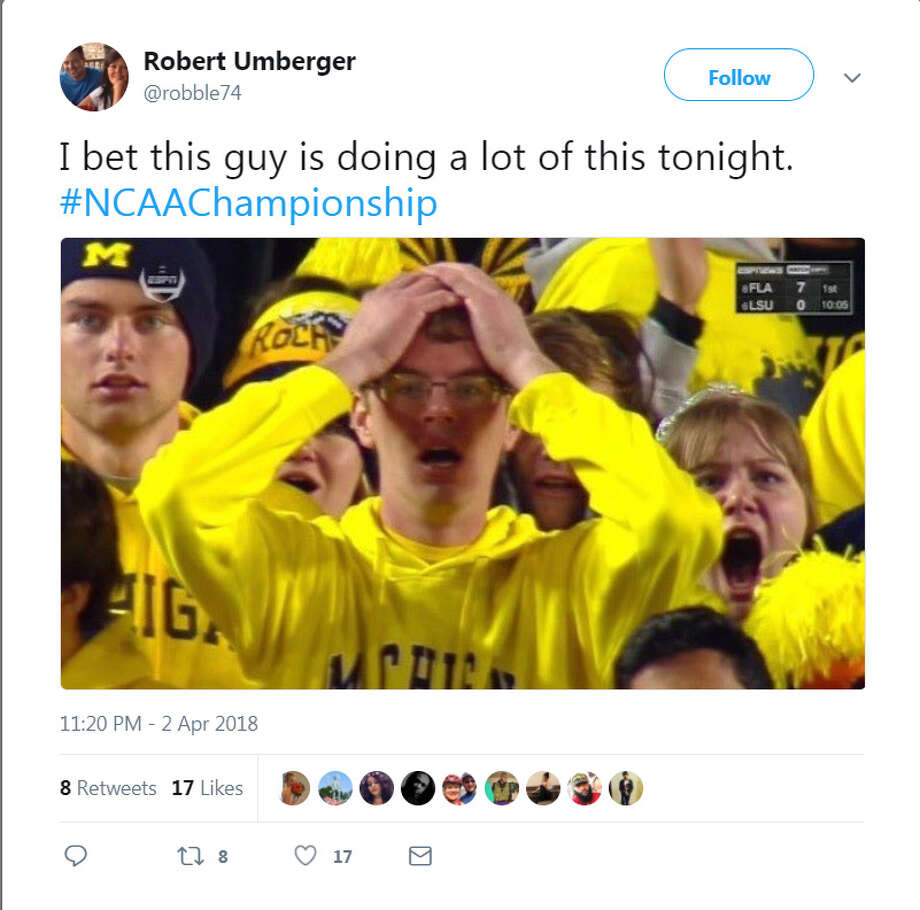 PHOTOS: The best memes from Villanova's title game wi over MichiganThe best memes from Twitter during Villanova's NCAA championship win over Michigan on Monday, April 2, 2018.Browse through the photo above for the best NCAA championship game memes. Photo: Twitter