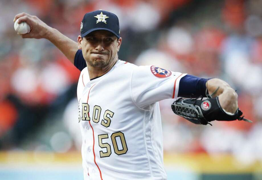 Charlie Morton induced a career-best 17 swings-and-misses on Monday night and finished with six strikeouts. Photo: Brett Coomer, Staff / Houston Chronicle / © 2018 Houston Chronicle
