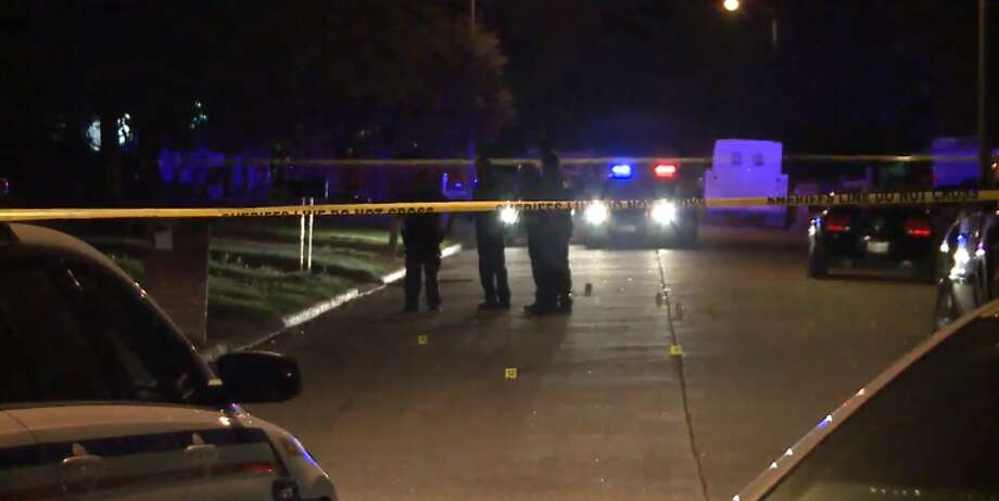 Four men were shot in the 8500 block of Redcliff in northwest Harris County, Tuesday, April 3, 2018. Photo: Metro  Video
