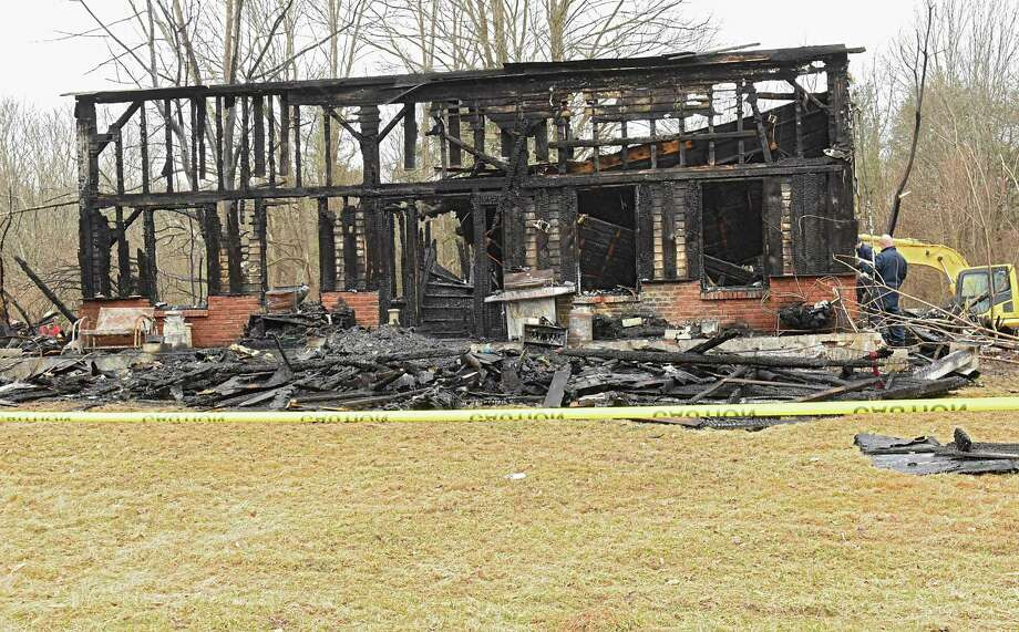 Aftermath of a tragic fire that took five lives on Rt. 145 on Tuesday, April 3, 2018 in East Durham, N.Y. Jonathan, Sophia and Jayden Mammano died, along with their grandparents, Nicholas and Mary Mammano, when fire swept through the elder Mammano's home. (Lori Van Buren/Times Union) Photo: Lori Van Buren, Albany Times Union / 20043397A