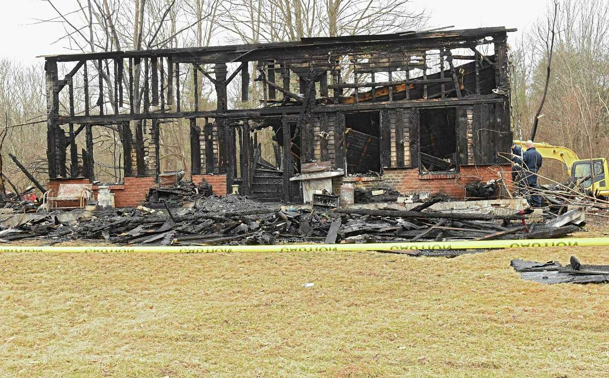 Aftermath of a tragic fire that took five lives on Rt. 145 on Tuesday, April 3, 2018 in East Durham, N.Y. Jonathan, Sophia and Jayden Mammano died, along with their grandparents, Nicholas and Mary Mammano, when fire swept through the elder Mammano's home. (Lori Van Buren/Times Union)