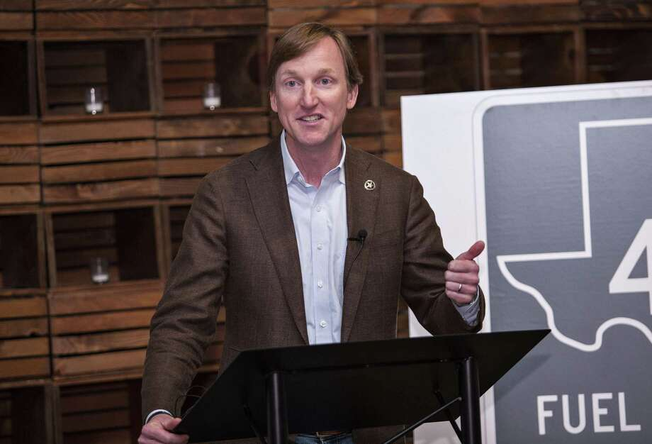 Democratic gubernatorial candidate Andrew White unveils the first part of a plan that he says will create 1 million jobs over four to five years. It will focus on energy and transportation. He made the presentation Tuesday at Impact Hub Austin in Austin. Photo: Thao Nguyen /For The San Antonio Express-News / Thao Nguyen