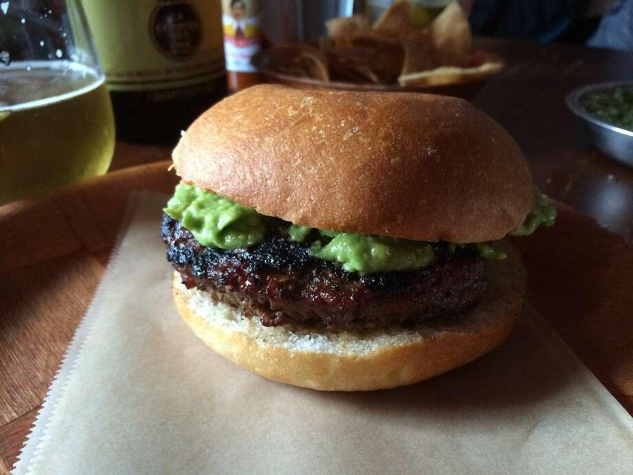 The hamburguesa at Don Pistos in North Beach. Photo: Lou Bustamante
