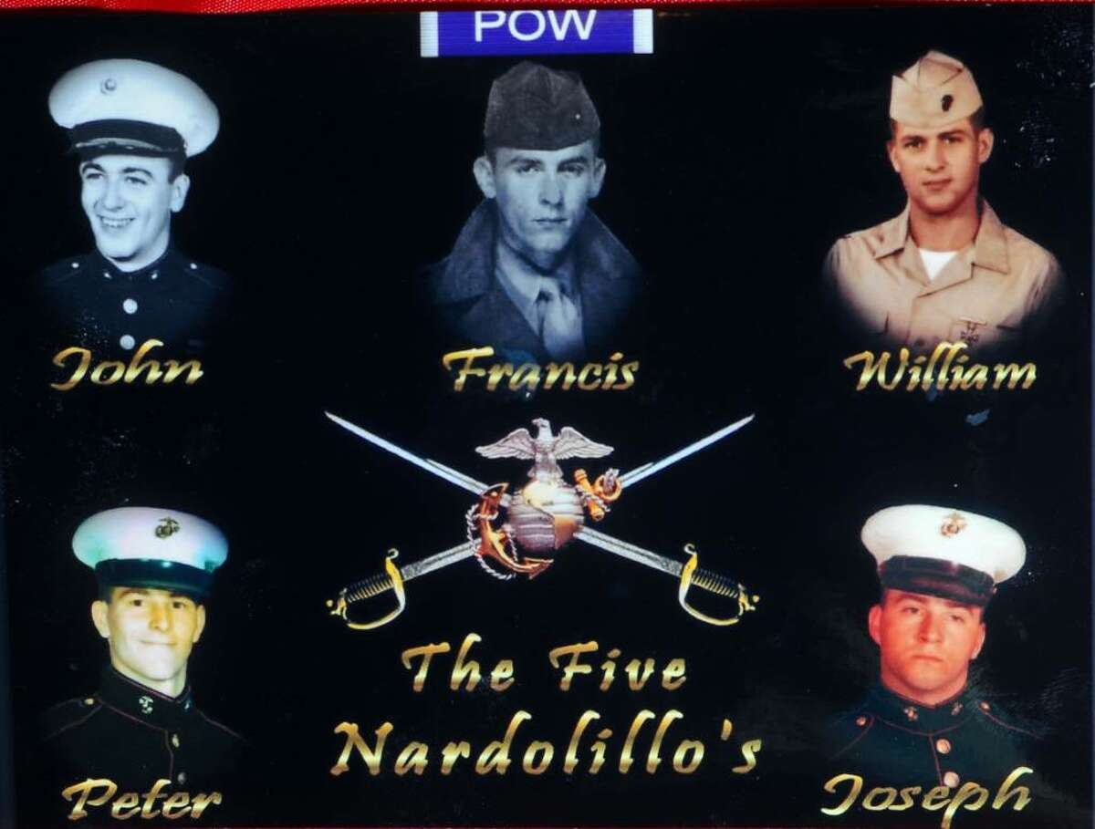 A family composite photo of the five Nardolillo brothers of Albany. All served in the U.S. Marine Corps and will be grand marshals of Albany's Memorial Day Parade on Monday.