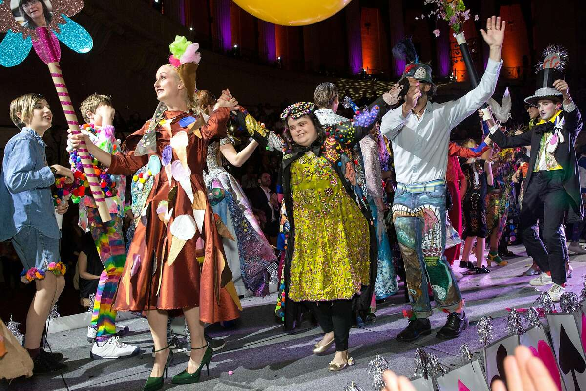"""All models come on stage together to conclude the Creative Growth """"Beyond Trend"""" runway show at the Scottish Rite Center, March 31, 2018, Oakland."""
