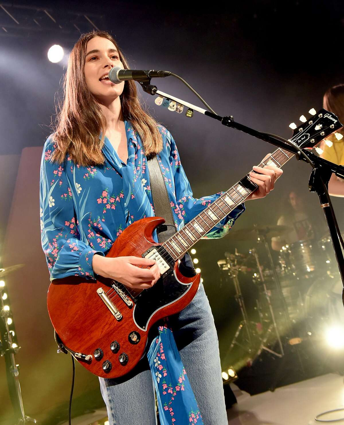 AUSTIN, TX - MARCH 10: Danielle Haim of HAIM performs onstage during Bumble Presents: Empowering Connections at Fair Market on March 10, 2018 in Austin, Texas. (Photo by Vivien Killilea/Getty Images for Bumble)