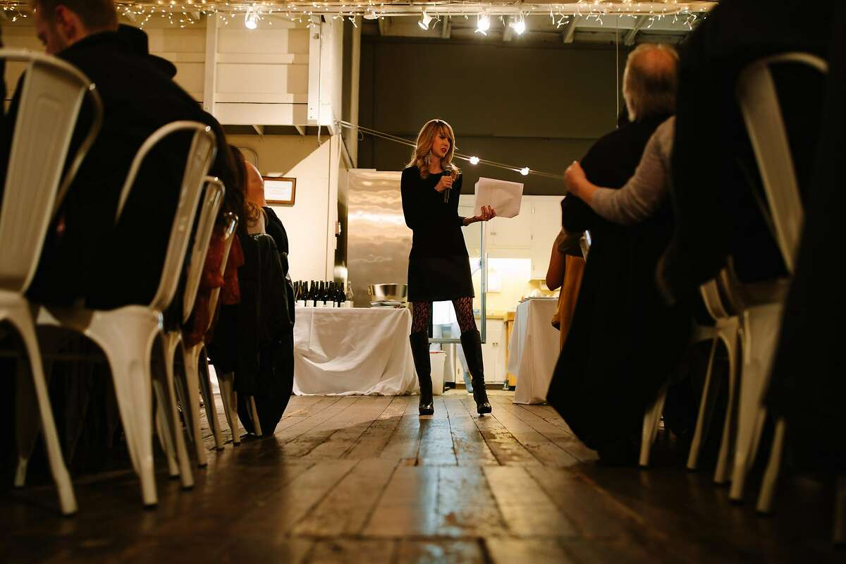 Jamie Evans, The Herb Somm, talks about the wine and cannabis pairing TSO Sonoma's event in San Francisco, Calif. Saturday, Feb. 10, 2018.
