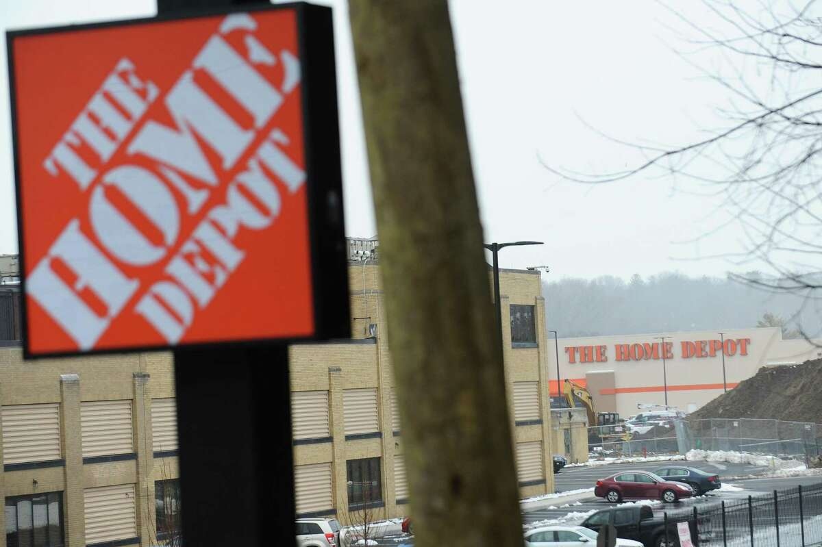 The new Stamford Home Depot, which is set to open later this month, is located at 1937 West Main St. in Stamford, Conn. Photographed on Tuesday, April 3, 2018.