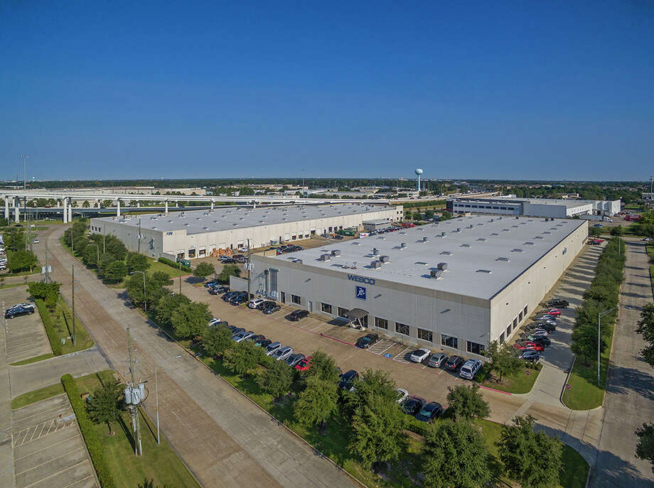 A subsidiary of STAG Industrial has purchased the Brookhollow West Business Park, consisting of two fully leased warehouse buildings totaling 232,950 square feet in northwest Houston. HFF represented the seller, AIV, Inc. The property is at 7140 and 7049 West Sam Houston Parkway North near U.S. 290. Photo: Professional Aerial Photography