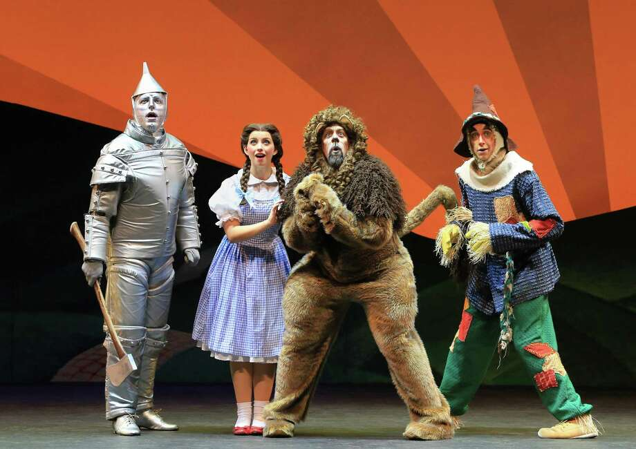 "A national tour of ""The Wizard of Oz"" includes performances at the Bushnell in Hartford. From left, Tin Man (Christopher Russell), Dorothy (Kalie Kaimann), Lion (Victor Legarreta) and Scarecrow (Chris Duir) in Oz. Photo: Photos By Denise S. Trupe /"
