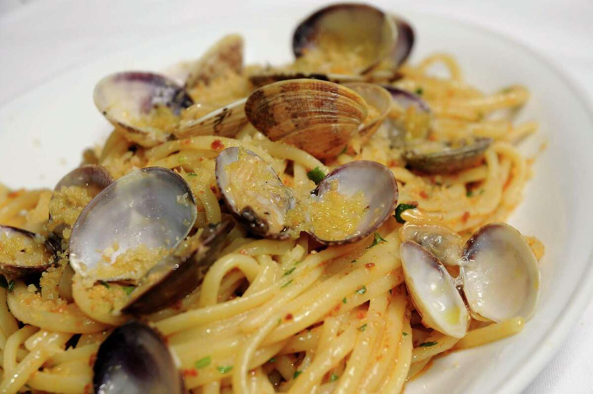 The Linguine Alla Vongole (Manilla clams, chorizo, garlic, and a touch of cream) at Carmelo's Cucina Italiana.