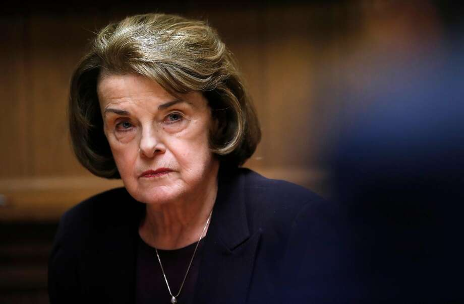 Sen. Dianne Feinstein during an interview with the Chronicle editorial board. Photo: Scott Strazzante / The Chronicle