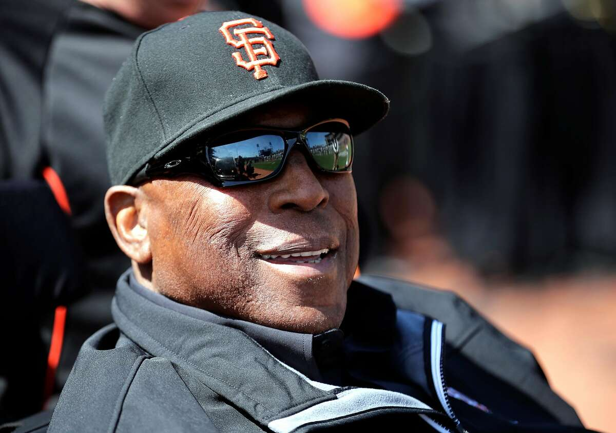 Giant great Willie McCovey during the home opener for the San Francisco Giants as they prepare to take on the Seattle Mariners at AT&T Park in San Francisco, Calif., on Tues. April. 3, 2018.