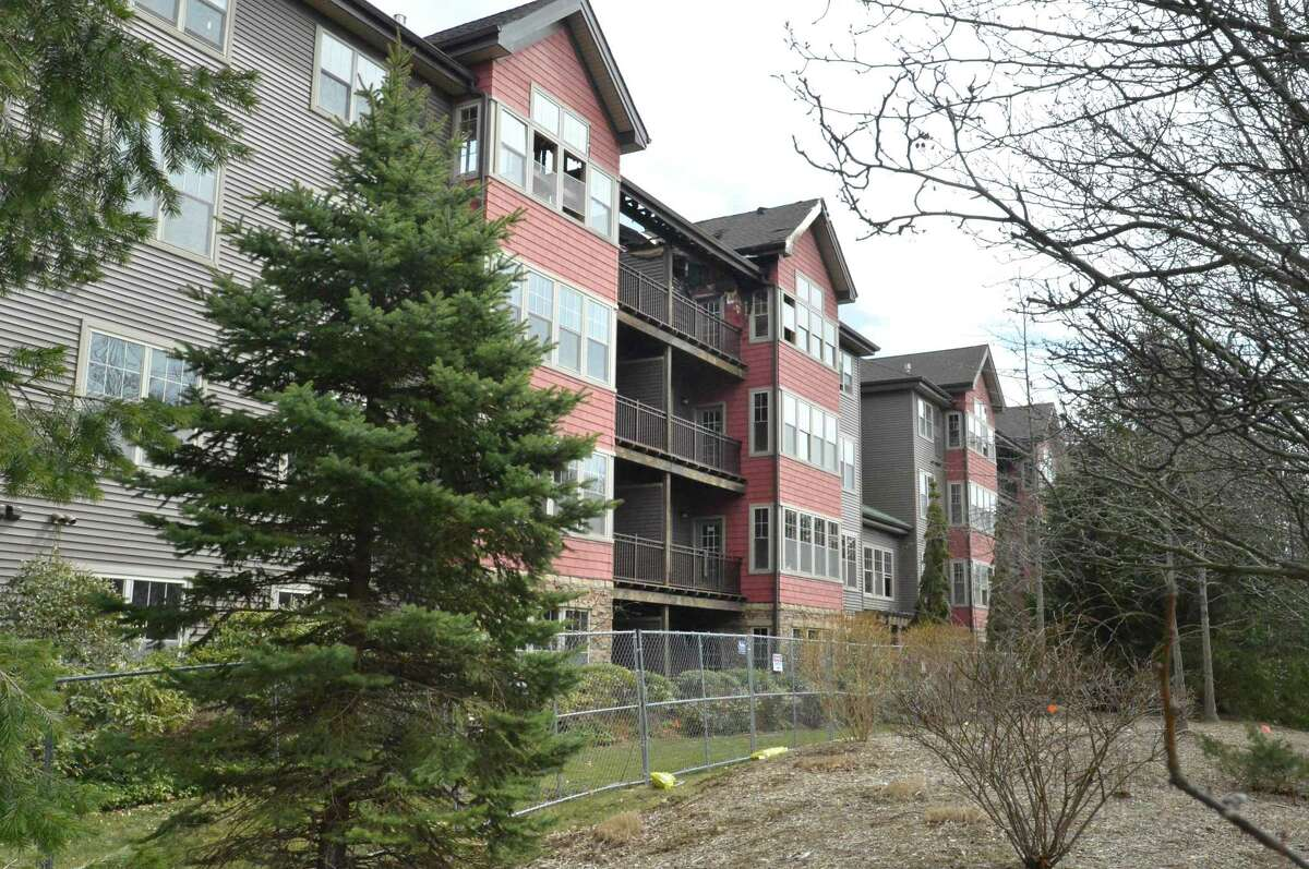 The Stonewood condominium complex on Richards Ave. on Wednesday March 28, 2018, the building was heavily damaged in a December 11 fire in Norwalk Conn.