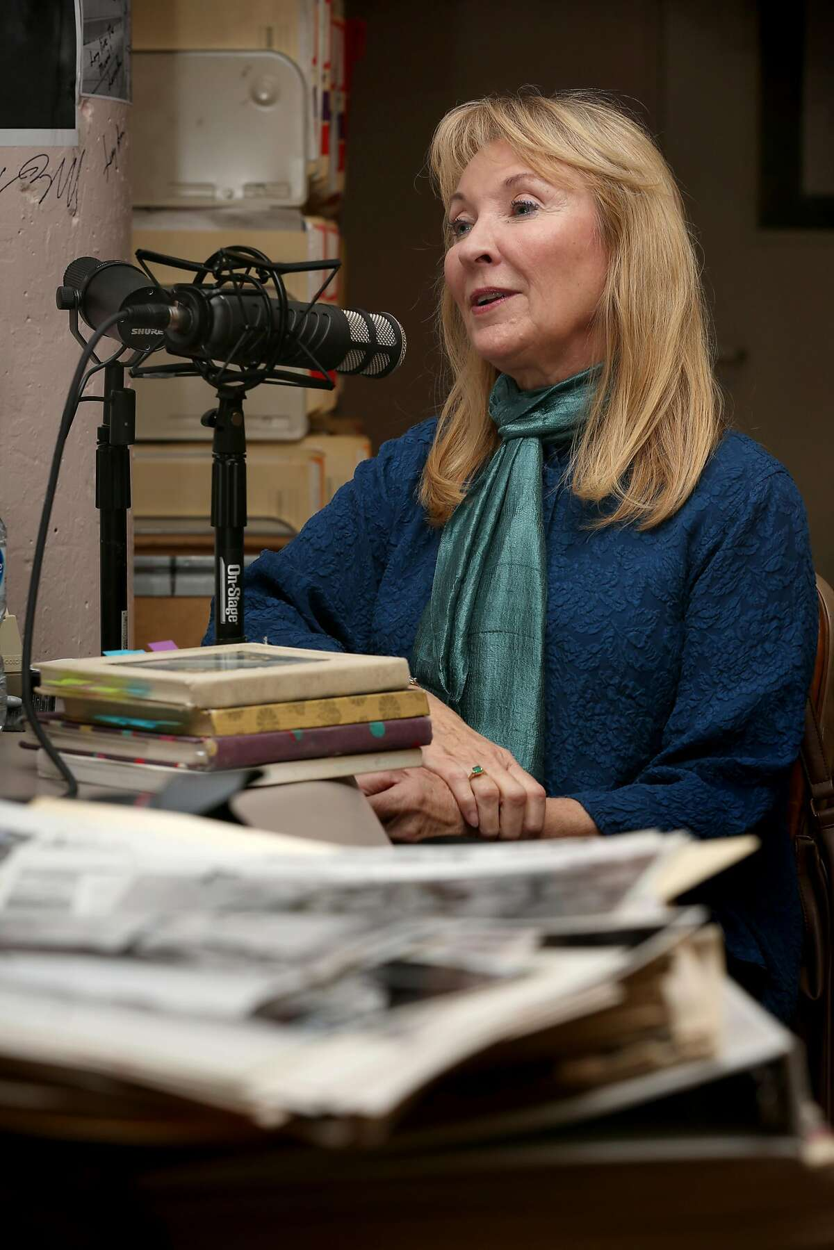 Actor and playwright Lorri Holt during a podcast recording session in The Chronicle's archive.