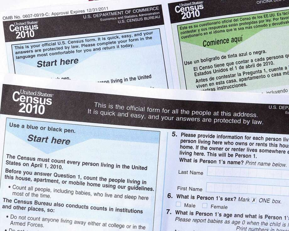 Copies of the 2010 Census forms in Phoenix. The 2020 U.S. Census will add a question about citizenship status, a move that brought swift condemnation from Democrats who said it would intimidate immigrants and discourage them from participating. Photo: Ross D. Franklin /Associated Press / Copyright 2018 The Associated Press. All rights reserved.