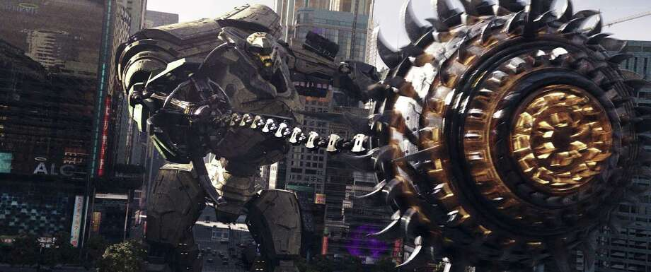"This image released by Universal Pictures shows a scene from ""Pacific Rim Uprising."" Photo: Legendary Pictures / Associated Press / Copyright: © 2017 Universal Studios. ALL RIGHTS RESERVED."