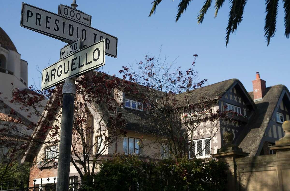 A home at 1 Presidio Terrace seen Tuesday, April 3, 2018 in San Francisco, Calif.
