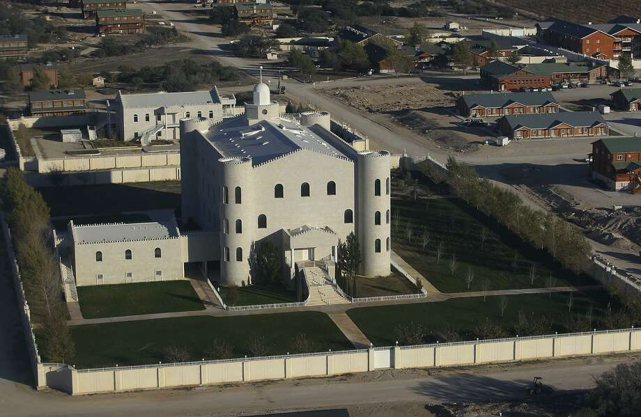 This is a 2012 aerial view of the church and surrounding lodging at Warren Jeffs' Yearning for Zion ranch in Eldorado. Photo: Kin Man Hui / San Antonio Express-News / © 2012 San Antonio Express-News