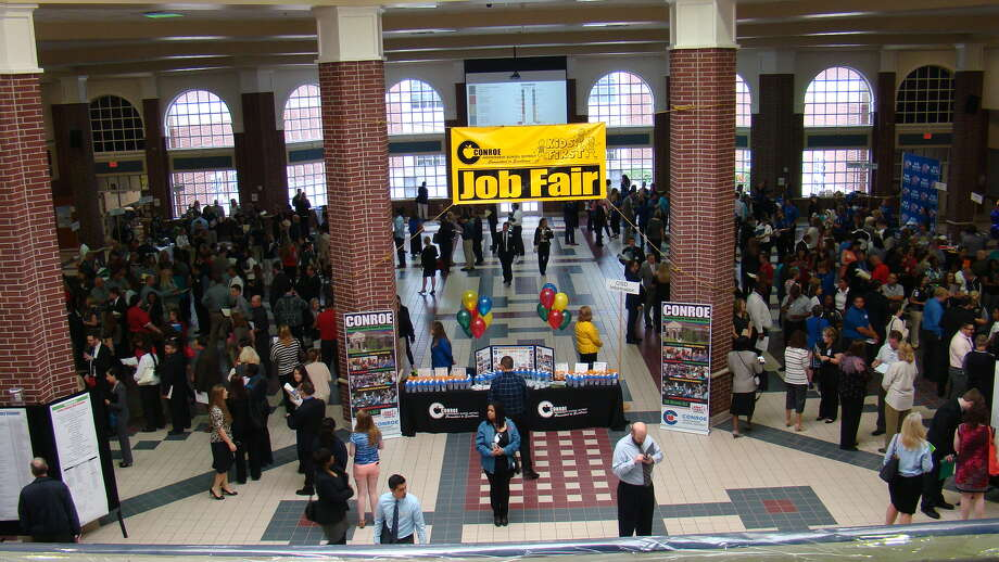 Applicants seeking employment in Conroe ISD at last year's annual Professional Job Fair. The 2017 Professional Job Fair is on Saturday, April 8 from 9 a.m. to noon at The Woodlands College Park High School. Photo: Kelly Schafler