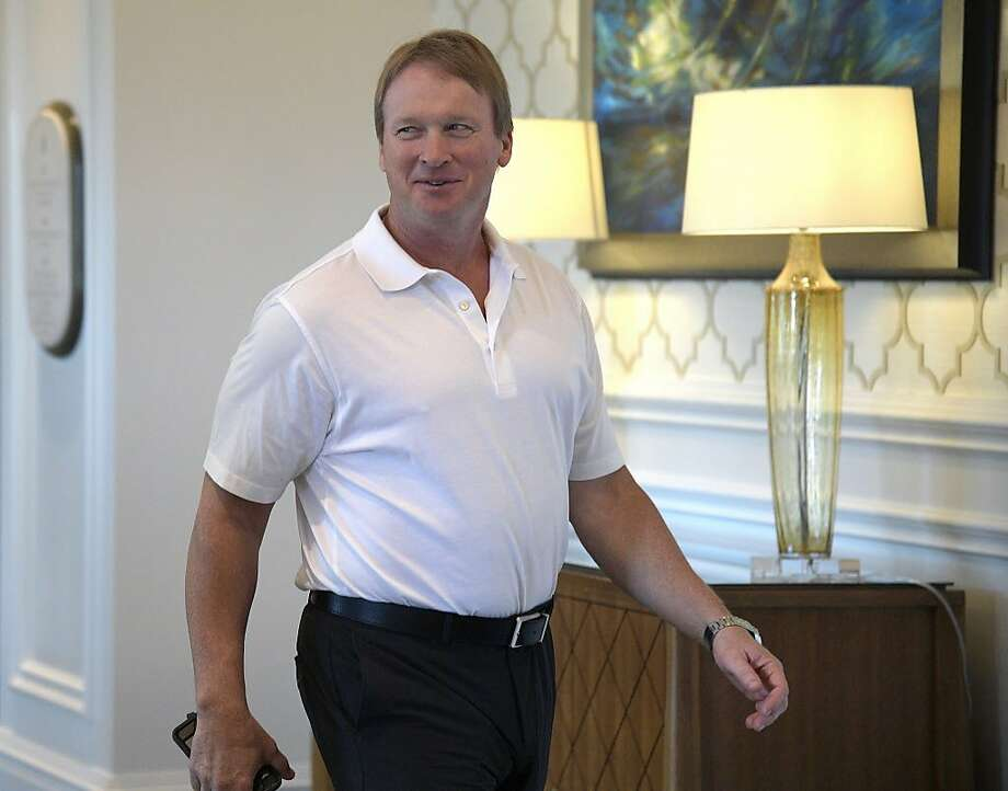 Oakland Raiders head coach Jon Gruden walks to a conference room during the NFL owners meetings, Monday, March 26, 2018 in Orlando, Fla. (Phelan M. Ebenhack/AP Images for NFL) Photo: Phelan Ebenhack / Associated Press