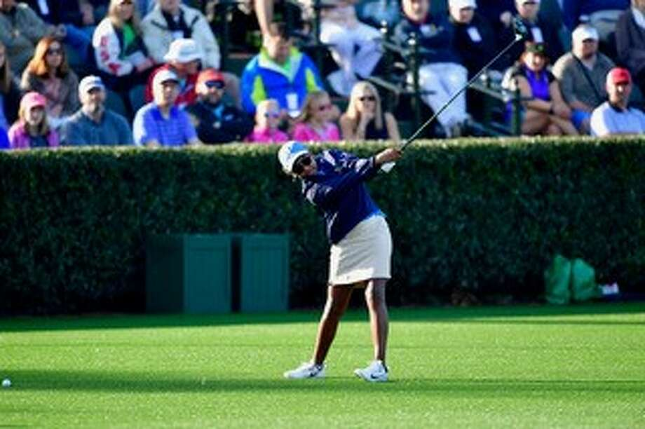 After winning sectional qualifying last fall, Allyn Stephens competed in the Drive, Chip and Putt finals Sunday at Augusta National. Photo: Courtesy Masters Tournament