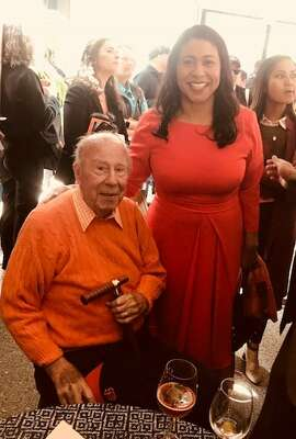 George Shultz and London Breed on Giants Opening Day