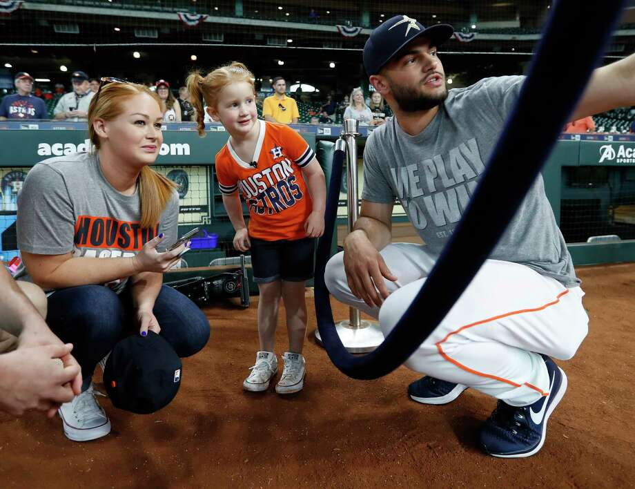 PHOTOS: More of Lance McCullers with his youngest fan Penny BoyleHouston Astros starting pitcher Lance McCullers Jr. chats with Penny Boyle and her mother Jennifer Boyle before the start of an MLB baseball game at Minute Maid Park, Tuesday, April 3, 2018, in Houston. Photo: Karen Warren, Houston Chronicle / © 2018 Houston Chronicle