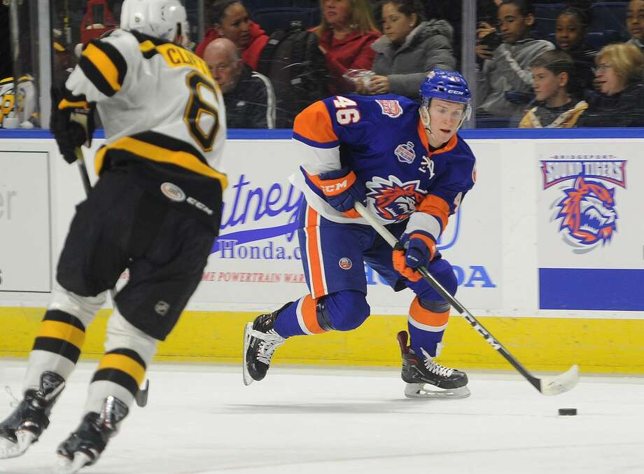 Bridgeport Sound Tigers v. Providence Bruins AHL hockey at the Webster Bank Arena in Bridgeport, Conn. on Tuesday, April 3, 2018. Photo: Brian A. Pounds / Hearst Connecticut Media / Connecticut Post