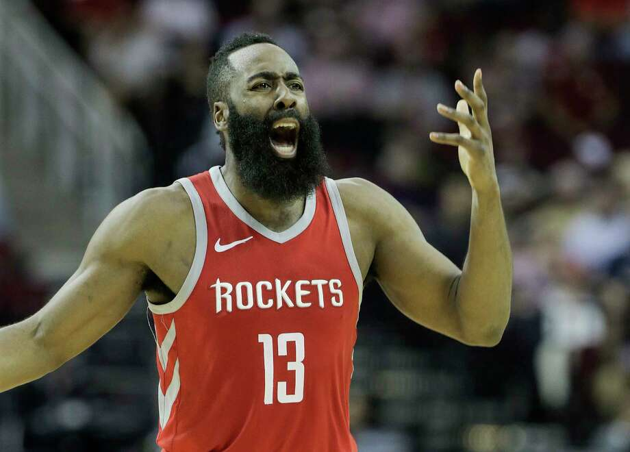James Harden may not have gotten this particular call, but he and the Rockets got back on track against the Wizards on Tuesday. Photo: Elizabeth Conley, Houston Chronicle / © 2018 Houston Chronicle