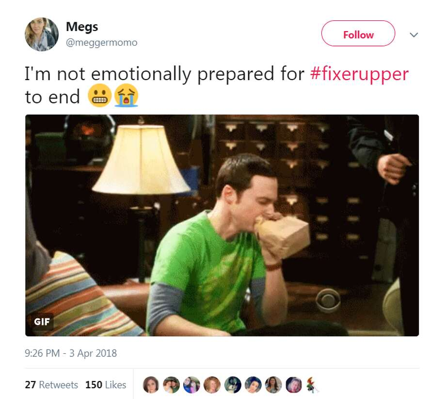 See how Fixer Upper fans on Twitter are reacting to the show's last episode.@meggermomo Photo: @meggermomo