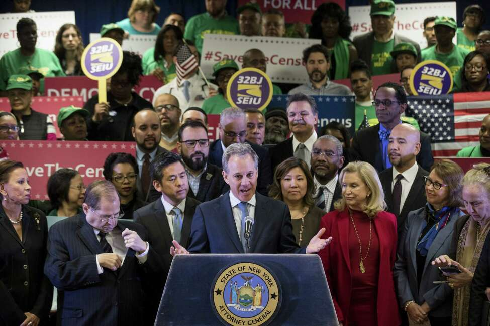New York Attorney General Eric Schneiderman speaks at a press conference to announce a multi-state lawsuit against the Trump administration. (Photo by Drew Angerer/Getty Images)