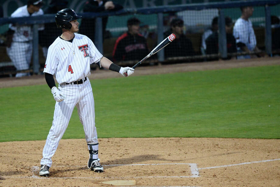 Texas Tech's Grant Little prepares to bat against New Mexico State April 3, 2018, at Security Bank Ballpark.  James Durbin/Reporter-Telegram Photo: James Durbin