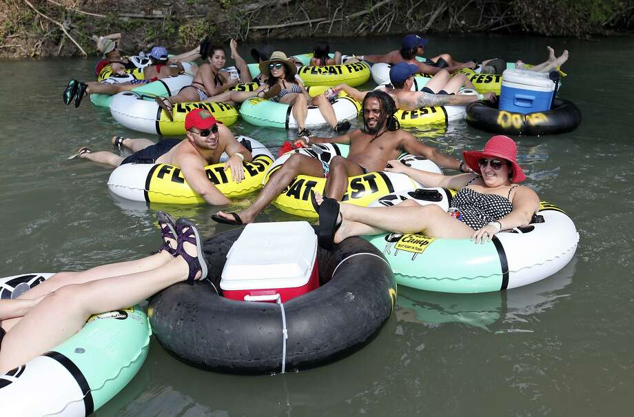 Tubers float the San Marcos River while attending Float Fest held at Cool River Ranch Sunday Aug. 30, 2015 in Martindale, Tx. Photo: Edward A. Ornelas, Staff / San Antonio Express-News / © 2015 San Antonio Express-News