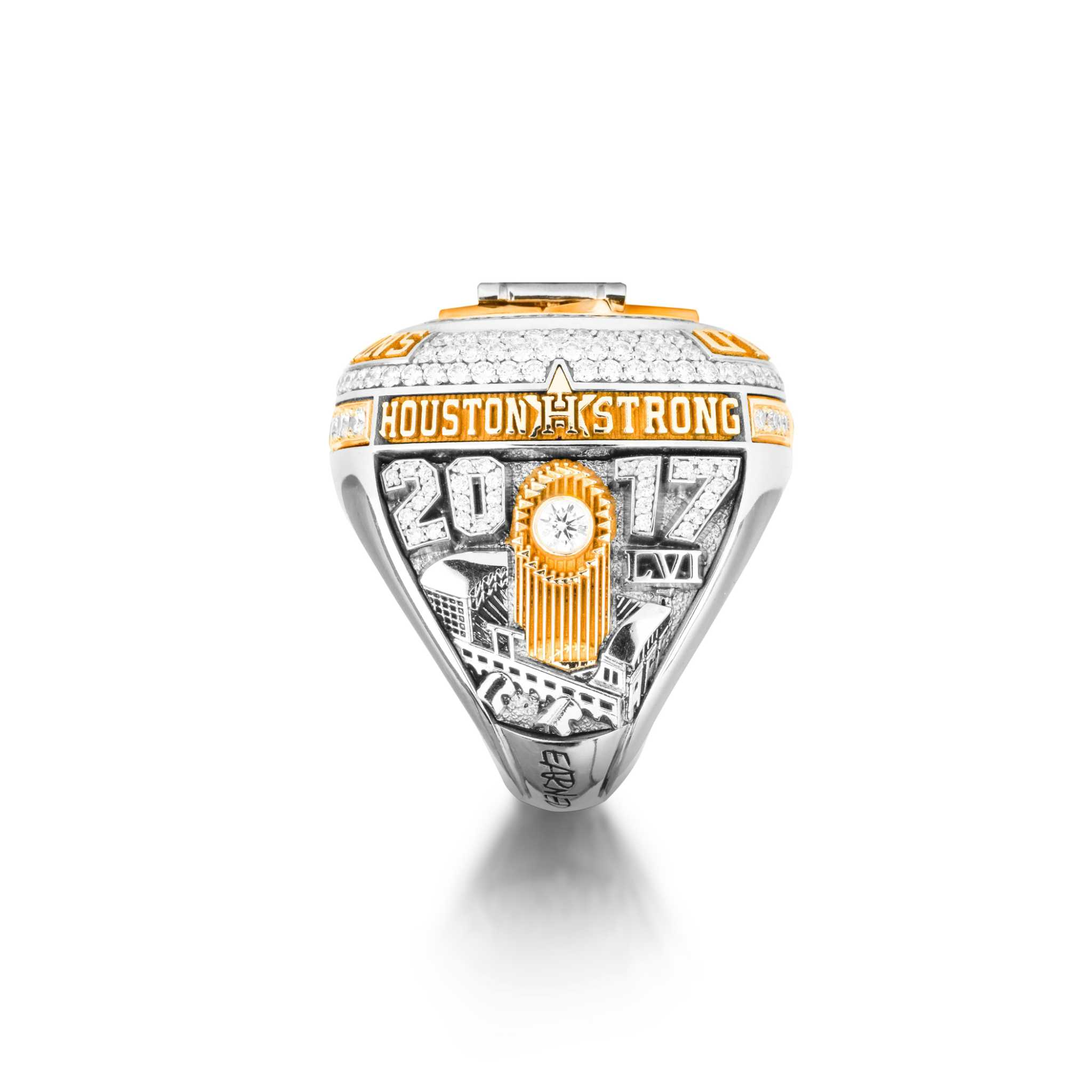 collaborates state inaugural texas national to football ring championship college releases present with playoff rings jostens news